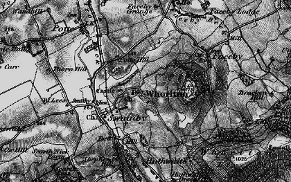 Old map of Whorl Hill in 1898