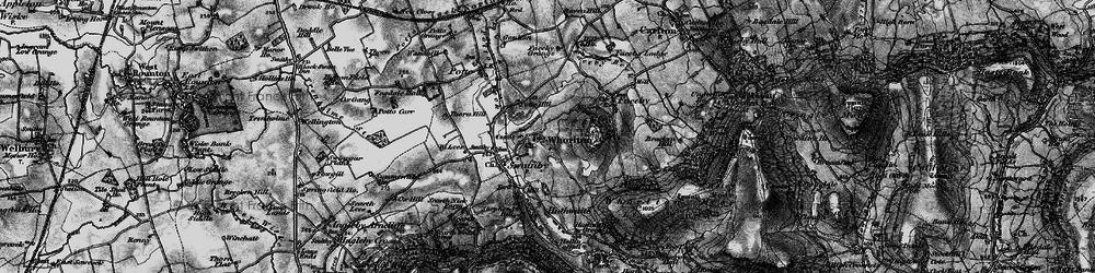 Old map of Whorlton in 1898