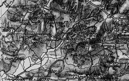 Old map of Whydown in 1895