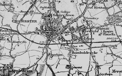 Old map of Whyke in 1895