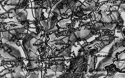Old map of Whyle in 1899
