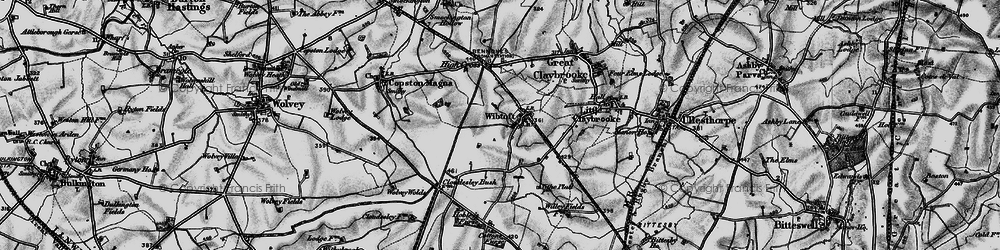 Old map of Wibtoft in 1899
