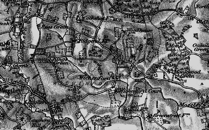 Old map of Wichenford Court in 1898