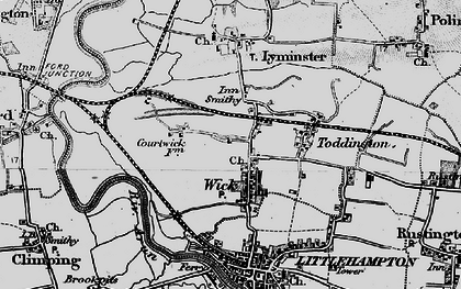 Old map of Wick in 1895