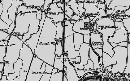 Old map of Wick in 1898