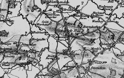 Old map of Ayleswade in 1895