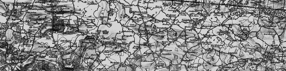 Old map of Wick Hill in 1895