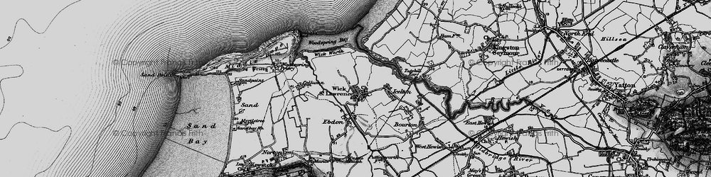 Old map of Wick St Lawrence in 1898