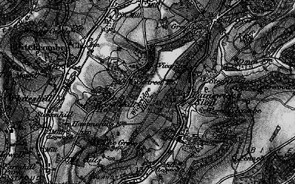 Old map of Wickridge Hill in 1896