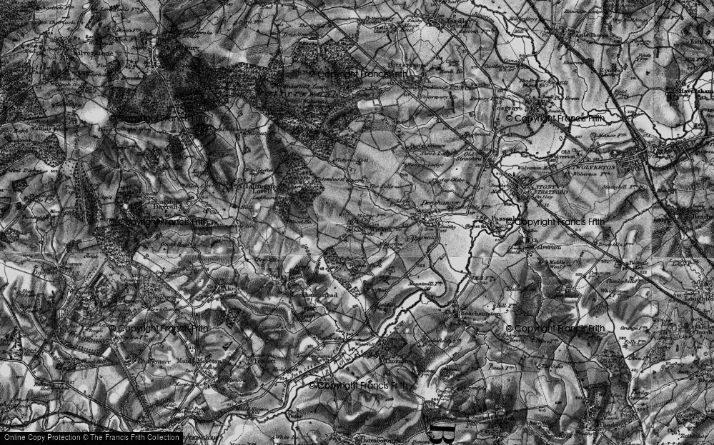 Old Map of Wicken, 1896 in 1896