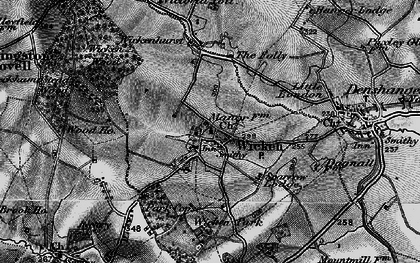 Old map of Wicken Park in 1896