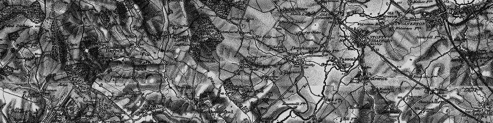 Old map of Wicken in 1896