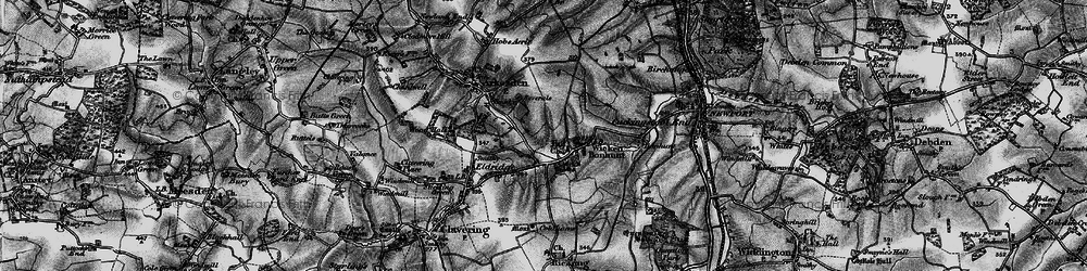 Old map of Wicken Water in 1895