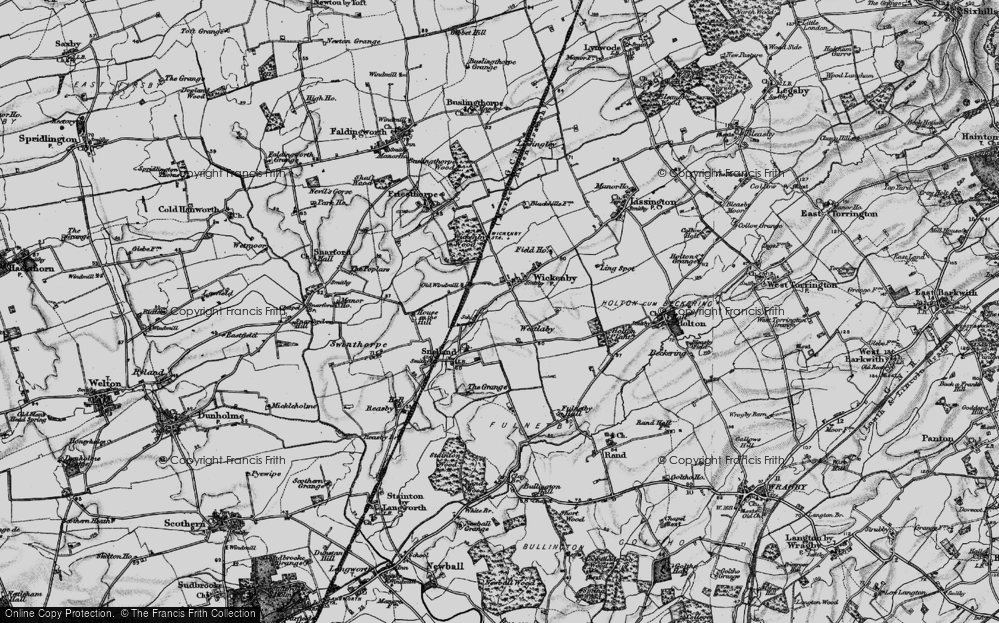 Old Map of Wickenby, 1899 in 1899