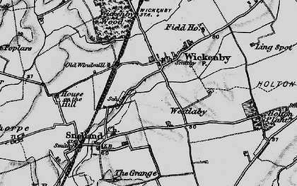 Old map of Wickenby in 1899
