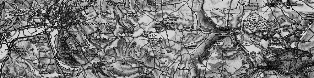 Old map of Wickersley in 1896