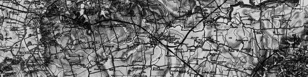 Old map of Wickford in 1896