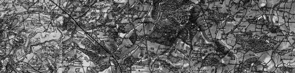 Old map of Wickham in 1895