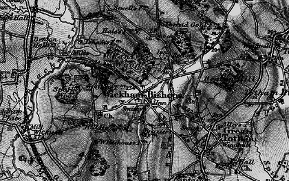 Old map of Wickham Bishops in 1896