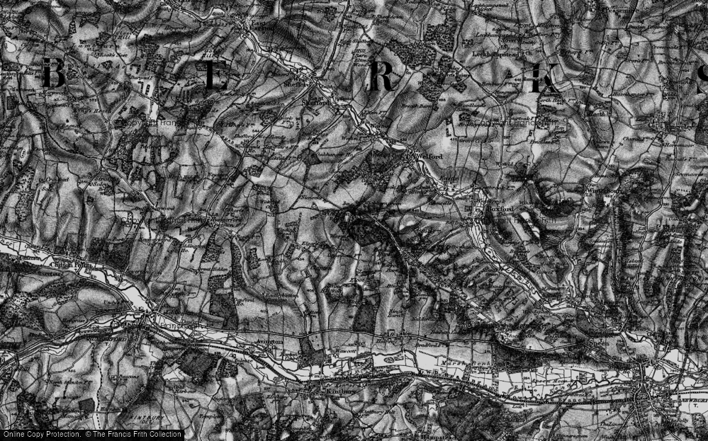 Old Map of Wickham Green, 1895 in 1895