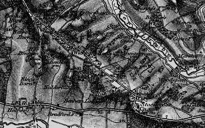 Old map of Wickham Heath in 1895
