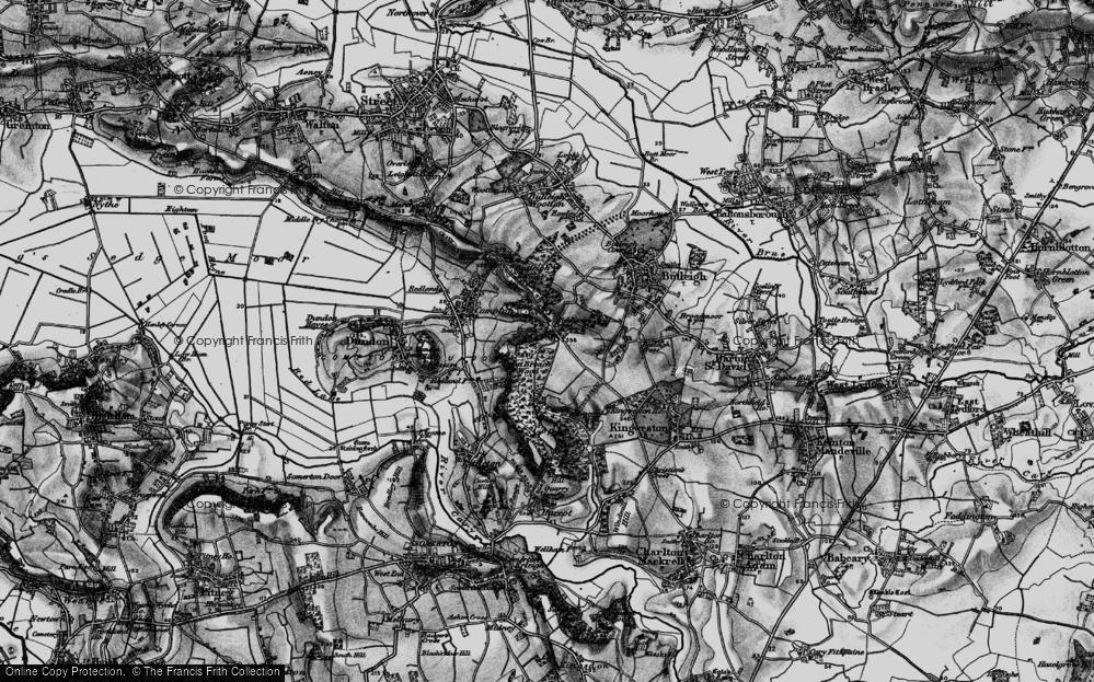 Old Map of Wickham's Cross, 1898 in 1898