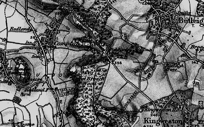 Old map of Wickham's Cross in 1898
