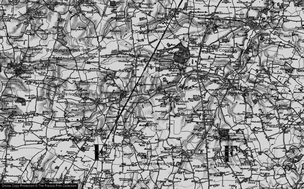 Old Map of Wickham Street, 1898 in 1898