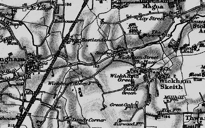 Old map of Wickham Street in 1898
