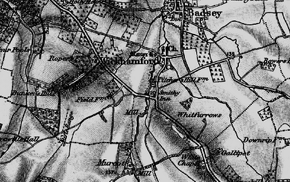 Old map of Wickhamford in 1898