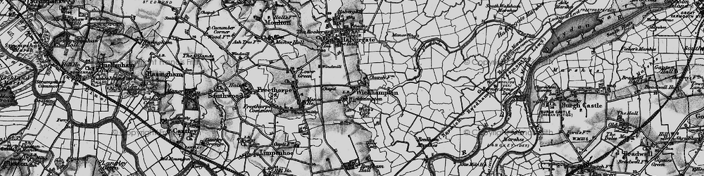 Old map of Wickhampton in 1898