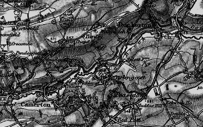 Old map of Wicklane in 1898