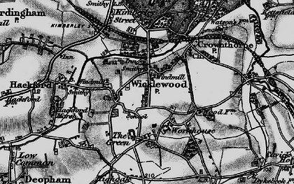Old map of Wicklewood in 1898