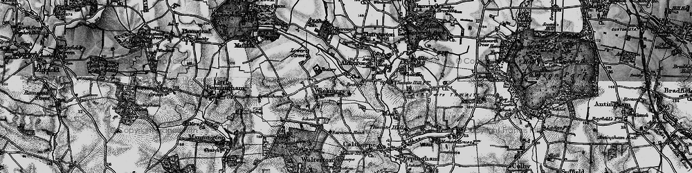 Old map of Wickmere in 1898