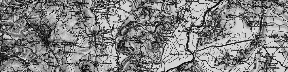 Old map of Wickridge Street in 1896