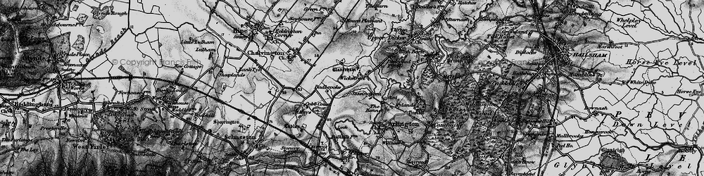 Old map of Wickstreet in 1895