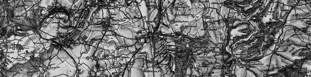 Old map of Wickwar in 1897