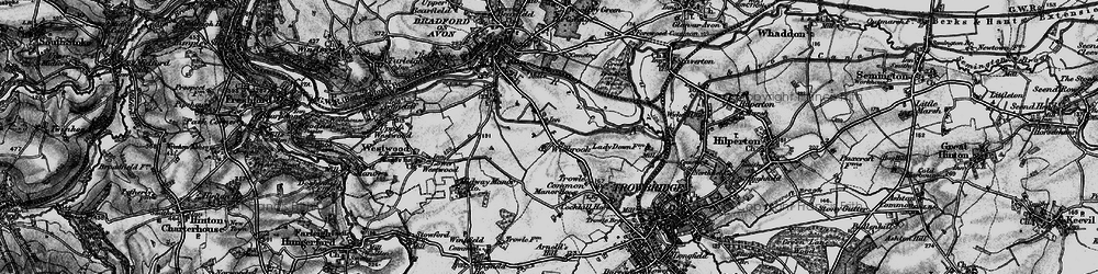 Old map of Widbrook in 1898
