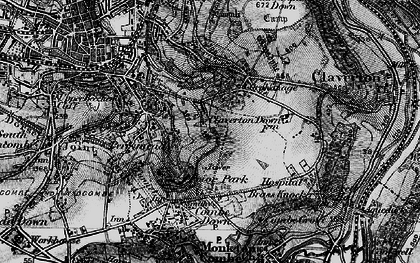 Old map of Widcombe in 1898