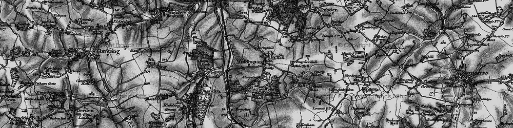 Old map of Widdington in 1895