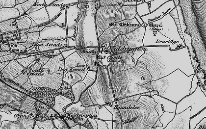 Old map of Widdrington in 1897
