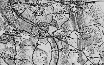 Old map of Widdrington Station in 1897