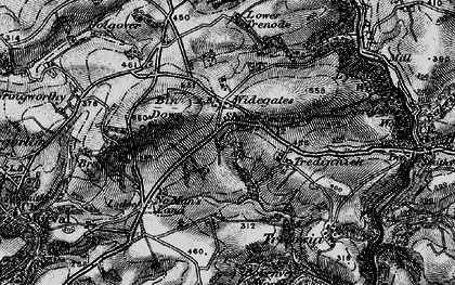 Old map of Widegates in 1896