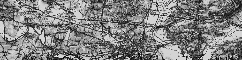 Old map of Widemarsh in 1898