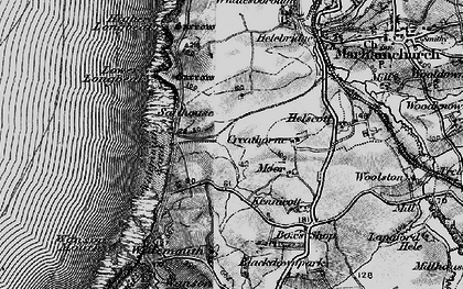 Old map of Widemouth Bay in 1896