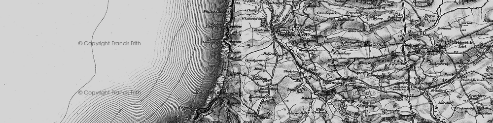 Old map of Widemouth Sand in 1896