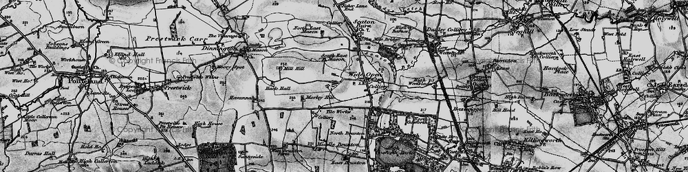 Old map of Wideopen in 1897