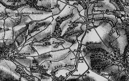 Old map of Widewell in 1896