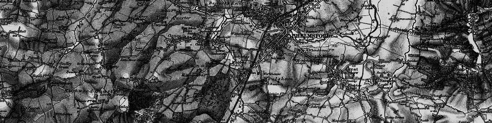 Old map of Widford in 1896