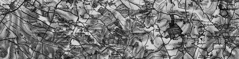 Old map of Widgham Green in 1898